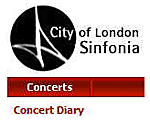 View the concert diary od the City of London Sinfonia